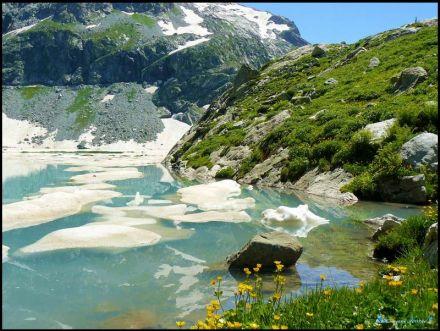 Фото Льды на Клухорском озере