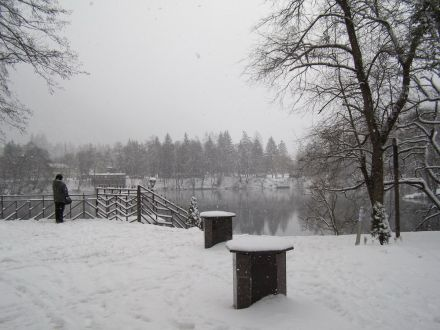 Фото Снегопад на Голубом озере