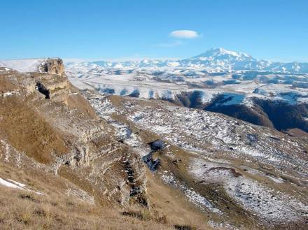 Фото Эльбрус с перевала Гум Баши