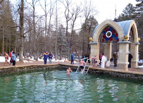 Фото Крещенские купания в Кисловодске