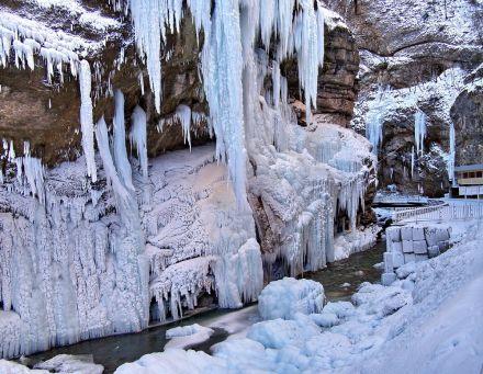 Фото Чегемские водопады зимой