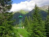 Пограничная вышка у перевала Санчаро