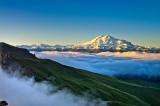 Эльбрус с плато Бермамыт...